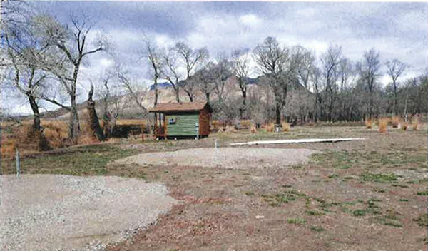 Park County commissioners have rejected a North Fork business owner's plans to build tepees on these pads, seen in April, because of their proximity to a creek.