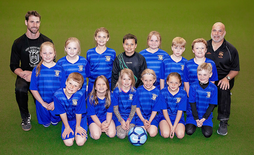 The Heart Mountain U10 soccer team had a solid spring season, posting fourth-place finishes in the Snickers Cup and the State Cup. Pictured from left are, back row: Coaches Kevin French and Pat D'Alessandro, with Jessica Lum not pictured. Middle row: Charlie Eastman, Emery Hernandez, Ava Brewer, Gianreye D'Alessandro, Riley Douglas, Braxton Nelson and Knox Johnson. Front row: Carter Fauskee, Ily Williams, RaeAnn Jackson, Aspen French, Kindyle Floy and Levi Rogers.