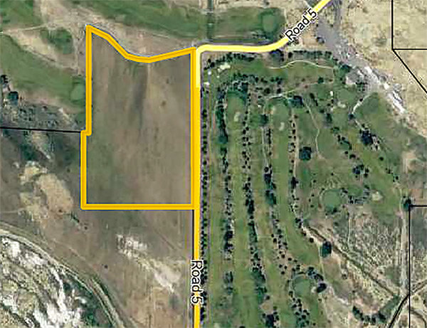 A Powell developer's plans to turn the highlighted parcel of land into a 14-lot subdivision hit a snag on Tuesday: Park County commissioners directed Will Ambrose to restart the county's approval process after he missed a deadline.