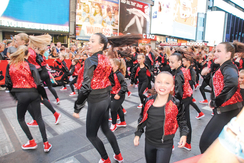 Members of Victoria's School of Dance in Powell take Times Square by storm during a recent trip to New York City. Ten members of the studio participated in the 2019 Dance the World Broadway event July 25-29.