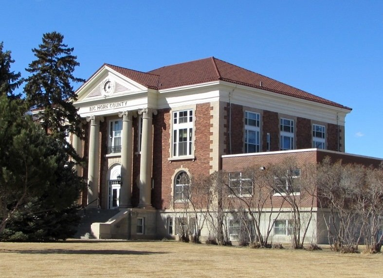 The Big Horn County Courthouse in Basin has been temporarily closed 'until proper inspections take place.'