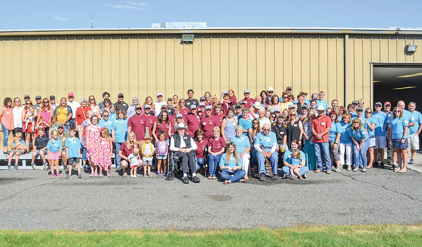 Capturing all of the more than 120 family members who gathered for last weekend's Anderson-Sheets reunion at the Park County Fairgrounds required a wide-angle lens. The family's local roots date back to 1909, when the Sheets and Anderson families moved to the Powell Valley.