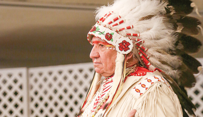 Willie LeClair, a member of the Eastern Shoshone Tribe, is pictured during a presentation in 2014 at Northwest College. He will speak at the 23rd annual Buffalo Feast on Nov. 14.