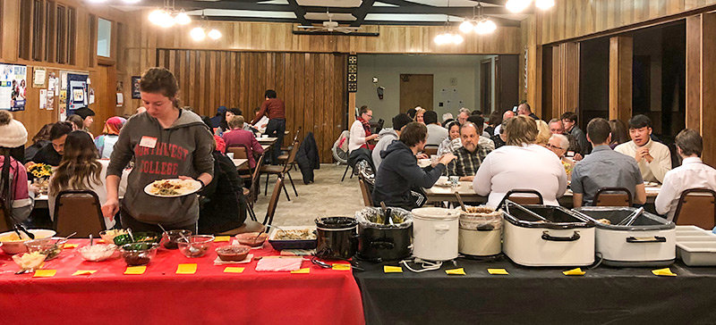 Hope Lutheran Church in Powell recently hosted a dinner for international students attending Northwest College and staff.