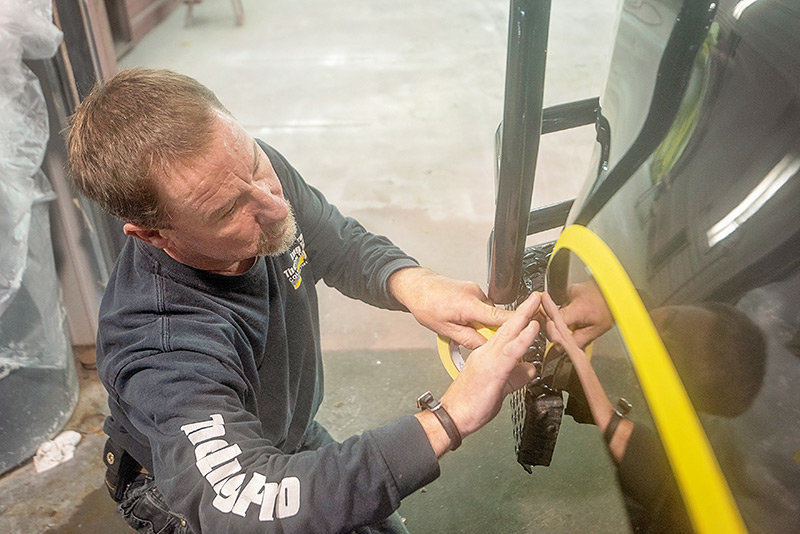 Jeff Kary, owner of The Ding Pro in Powell, has specialized in Speedliner spray-on liners for more than 20 years.