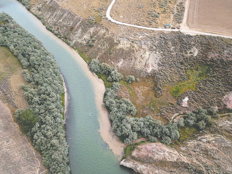 A working group continues to investigate ways to reduce the amount of sediment in the Shoshone River upstream of the Willwood Dam. Part of that work has involved looking at which creeks are dumping the most sediment into the river, like the plume shown above.