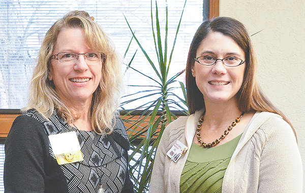 Tina Braet-Thomas (left) and Jill O'Donnell are certified diabetes educators at Powell Valley Healthcare.
