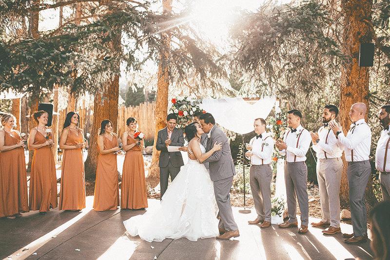 Paulina and Carlos Espino tied the knot in a beautiful wedding ceremony in Idaho Springs, Colorado.