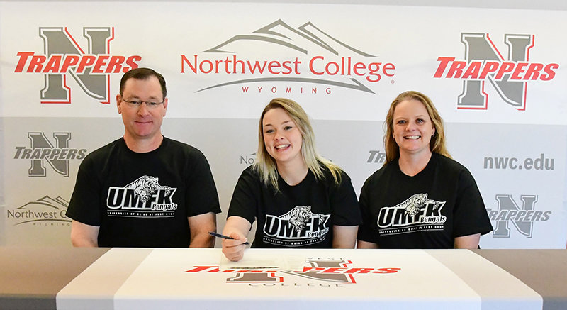 Northwest College defender Kailee Ingalls signed last Friday to continue her education and soccer career at the University of Maine — Fort Kent. Sharing their daughter's big day are her parents, Lee and Melissa Ingalls. The family is from Sheridan.