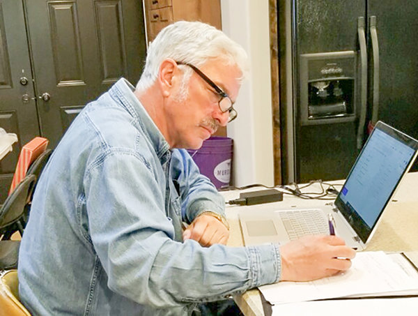 Wyoming Game and Fish Commissioner David Rael attended Thursday's telemeeting from the kitchen of his Cowley home. It was Rael's last meeting as president of the commission.
