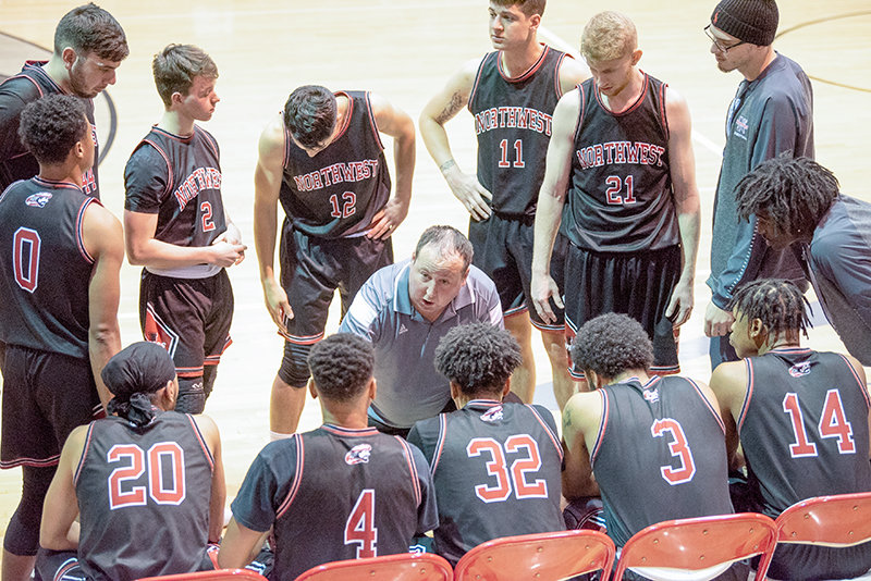 Head coach Jay Collins is in the process of rebuilding the men's basketball team's roster at Northwest College, with a returning core of only three players.