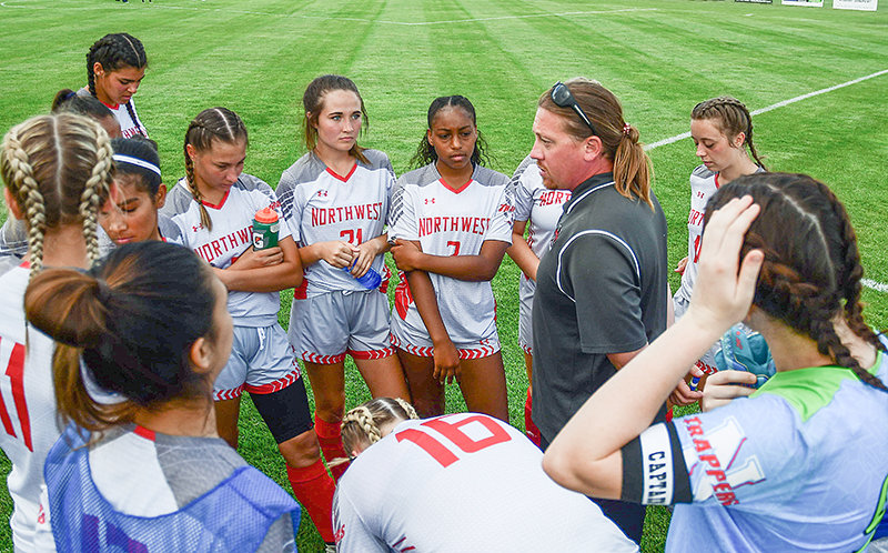 Aaron Miller, seen coaching the Northwest College's women's soccer team last year, is set to head up both the men's and women's programs this fall.