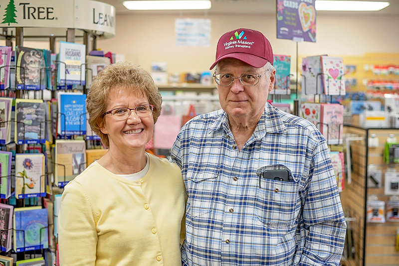Sherry and Marc Beaudry are pictured in their business, Mountain West Computer in Powell. After Marc's own experience with an organ transplant, the couple encourages others to consider signing up to be a donor. 'I think it's critical that people sign up to be donors,' he said. 'I think that people don't understand, maybe first of all, that they can do just as well with one kidney as they can with two.'