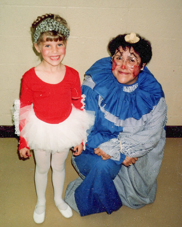 In the photo above from the spring of 1991, Tessa Baker is pictured with teacher Virginia Damori at the Kindergarten Circus.
