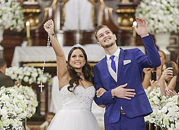 Luc Lombardy and Domenica Gomes, international student-athletes at NWC, went on to play professional basketball. They were married in Sao Paulo, Brazil, last year and will celebrate their one-year anniversary on June 9 while waiting out the COVID-19 sports stoppage.
