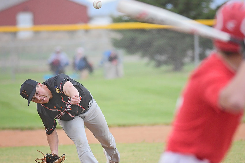 Powell Pioneers lefty Colin Queen literally got the season started for the home team Wednesday. In his one-inning stint as opener, he threw an assortment of pitches and gave up one hit.
