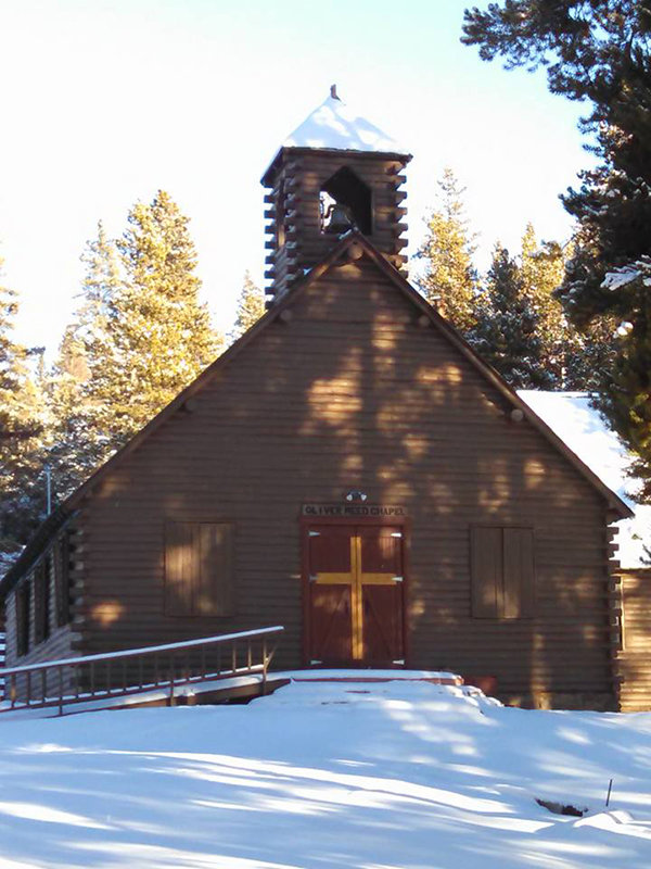 The chapel at Camp Bethel is located in the Bighorn Mountains.