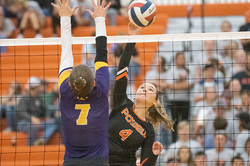After being cut from the Powell High School volleyball team her sophomore year, Gabby Harshman worked hard to make the squad as a junior and become a key member of the team as a senior in 2019.