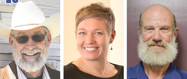 Northwest College Board of Trustees from left: Richard Jones, Tara Kuipers and Bob Newsome
