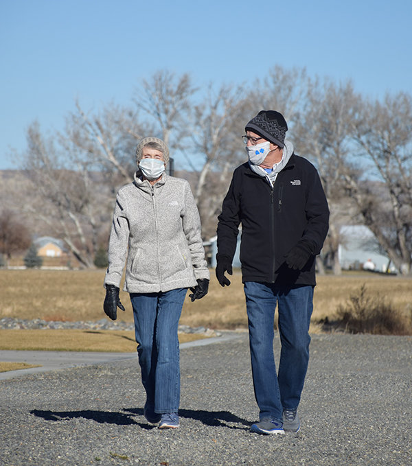 Crisp, clear days — before winter icing — made for easy walking on Road 9 1/2 last week. Dave and Sue Bonner were out for a morning stroll on the same road where the first vestiges of his COVID-19 symptoms showed in weary legs on Nov. 1 and progressed to painful weakness in the knees.