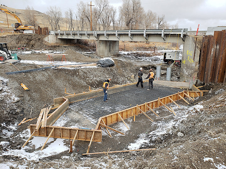 Crews are working through the winter months to install a new bridge over the Wood River on Park County Road 4DT, west of Meeteetse. The project is expected to cost around $850,000.