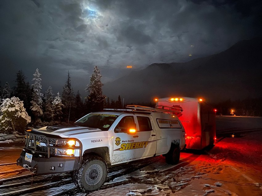 Members of Park County Search and Rescue and other first responders helped rescue a man and woman who got stuck on the Beartooth Highway Monday night as they tried getting to Cooke City, Montana.