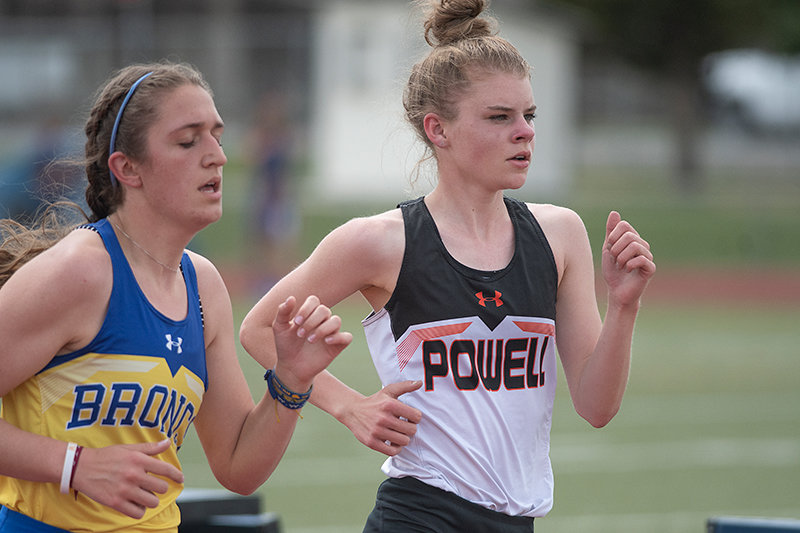 Brynn Hillman competes in the 3200 at the State Farm Trackstravaganza earlier this month. In her first year of track, the freshman has become a staple for PHS.