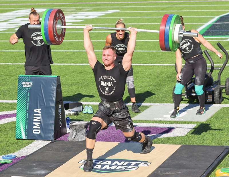 Cooper Wise competes at the Granite Games in Eagan Minnesota. Wise is a member of Omnia, which finished first in the team competition at the games.