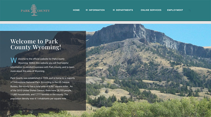 Park County's IT staff recently launched a new version of the county's webpage, accessible on the web at www.parkcounty-wy.gov.