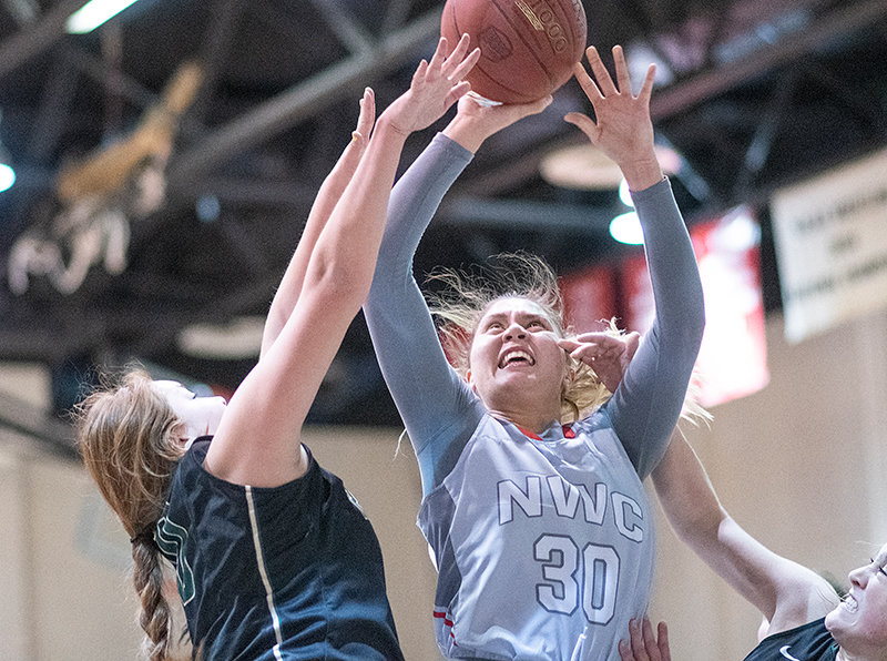 Riley Aiono (first photo) and Samiyah Worrell (second photo) were key contributors in their two seasons at Northwest College and will soon reunite at Chadron State College. Aiono said the duo's built-in chemistry will help CSC thrive.
