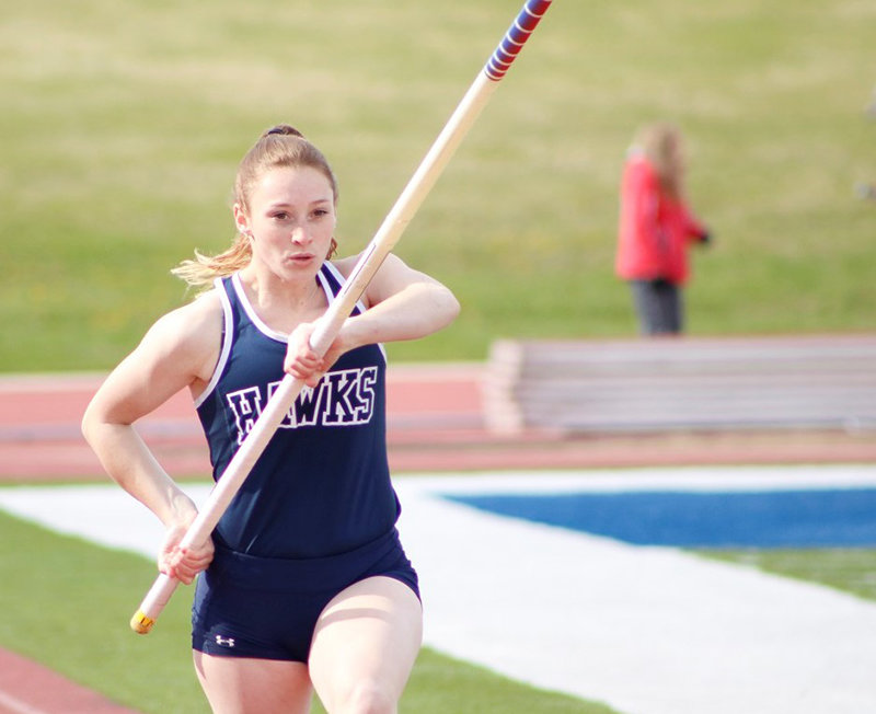 Powell pole vaulter Lexee Craig recently wrapped up a successful athletic career at Dickinson State University.