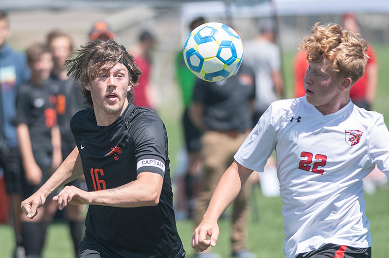 Sam Bauer runs for a ball against Riverton in the quarterfinals of the 3A Boys' Soccer State Tournament. Bauer will soon join Northwest College boys' soccer, along with PHS teammates Landon Sessions and Ashton Brewer.