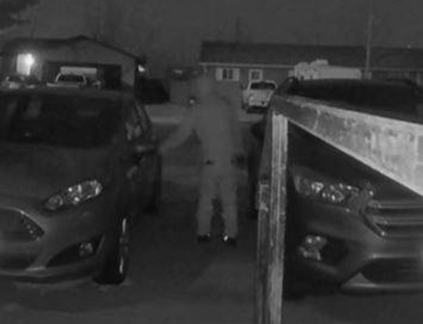 According to police, this surveillance footage shows Bryan Nihei attempting to burglarize a vehicle in Cody earlier this year. The footage was one pieces of evidence that authorities were able to use to connect Nihei to a long string of burglaries.