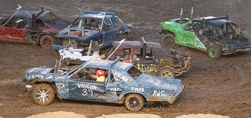 Dominic Vaughn took home $3,000 and a trophy for winning the limited weld class finals at the 2021 Park County Demolition Derby. Limited weld class was the main event of the night. Other prize winners in the class were Travis Kovach, Trent Gillett, Chad Dietz and Tyler Showalter.
