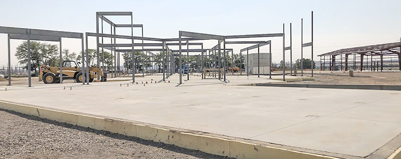 Crews have been making progress on the construction of the new Wyoming Game and Fish Department office north of Cody. They hope to finish the exterior of the building before winter sets in.