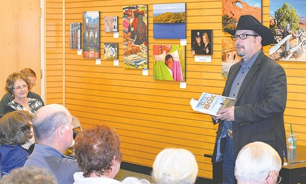 Author and Wyoming native C.J. Box reads from his latest novel, 'Vicious Circle,' at the Barnes & Noble in Billings last week. Several key scenes of the new book take place in Powell and on the campus of Northwest College.