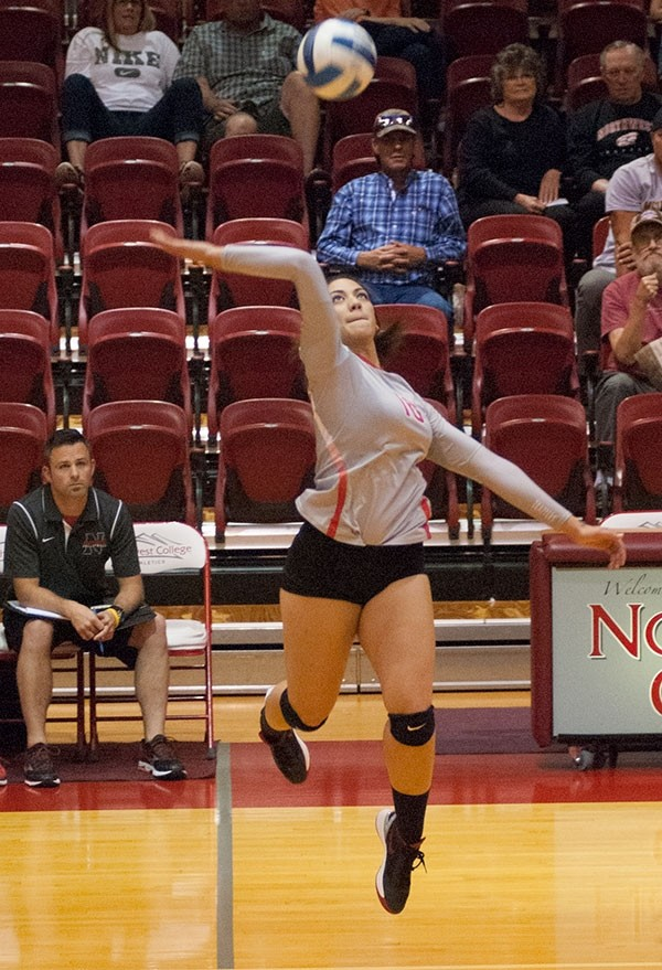 Though Lauga Gauta had a whopping 78 kills during the four-match Salt Lake Community College Crystal 'Inn'vitational during the Lady Trappers season-opening tournament, Northwest came away with just one win against a very tough field.