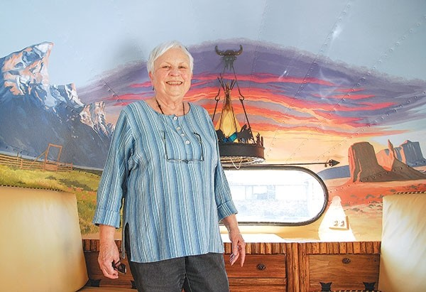 Powell artist Janet Bedford is turning a 1948 Airstream trailer into a work of art for former Grand Teton National Park Ranger Doug Leen as he prepares to tour the country giving presentations on the history of national parks and a series of vintage posters promoting the parks.