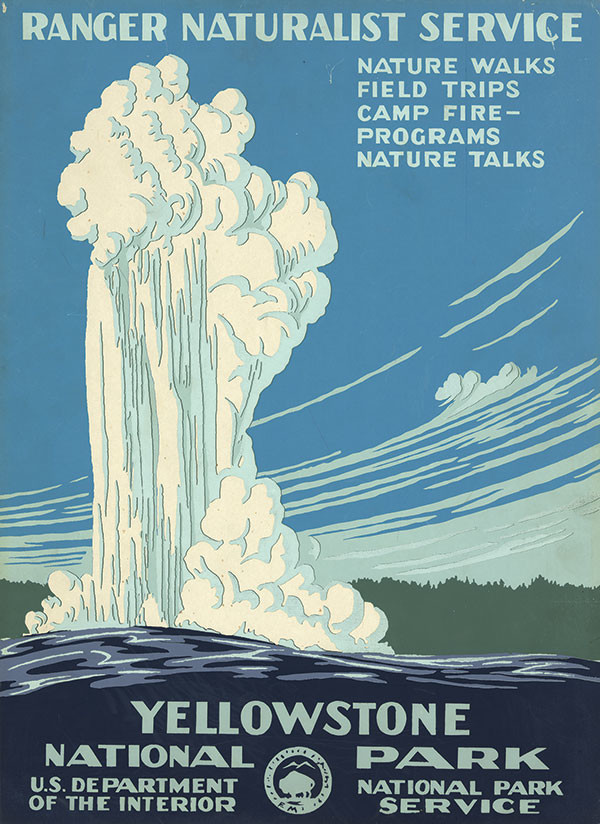 A series of posters from the early 20th century advertise national parks and are a major component of Doug Leen's tour. Image courtesy Library of Congress