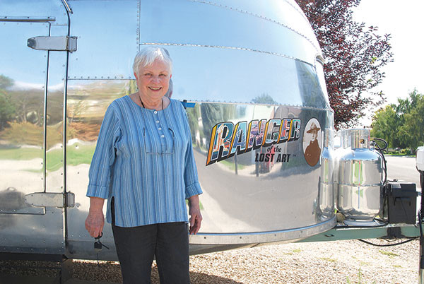 Powell artist Janet Bedford has spent the last few months painting the entire interior of a vintage Airstream trailer for Doug Leen's upcoming tour promoting national parks and their historic posters.