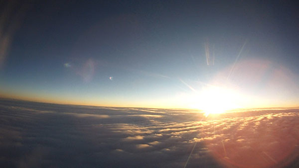 This image of the sunrise was captured by a camera aboard a weather balloon as it ascended over Powell on April 10. Courtesy photo