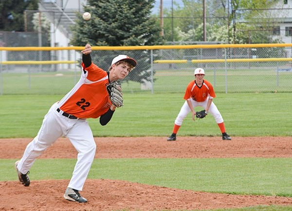 Pioneers pitcher Cameron Wentz delivers a pitch during a recent game at Legion Field. Powell lost to Riverton 13-1 over the Memorial Day weekend.