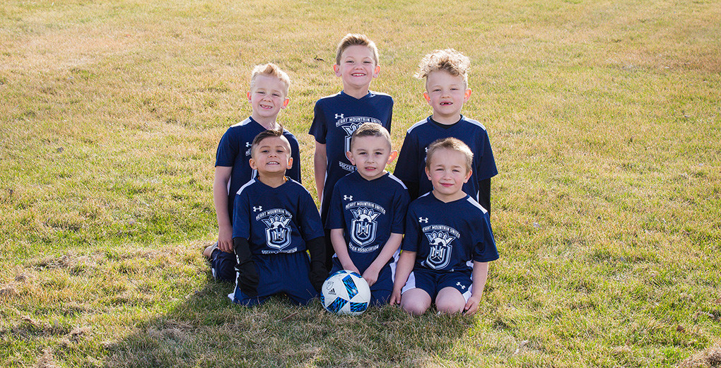8U boys - Back row (from left): Gavin Marchant, Ryder Stewart and Connor Ferguson; front: Zion Rodrigues, Myles Reel and Braeden Curtis.