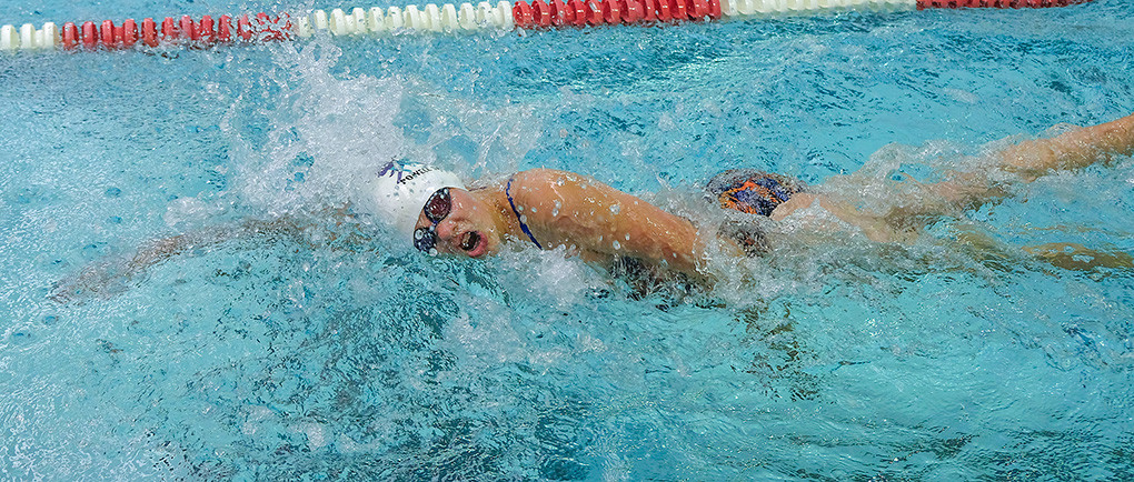 Gabby Paterson, 13, swims the freestyle at the Wyoming Summer Long Course Championship Swim Meet held in Gillette recently. Paterson competed in six different events over the course of the three-day meet.