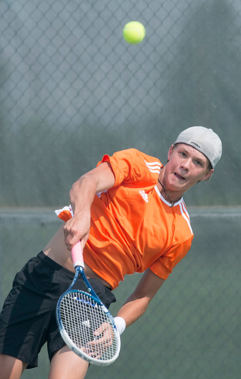 Dylan Preator, pictured earlier this year, won the No. 2 singles title at state.