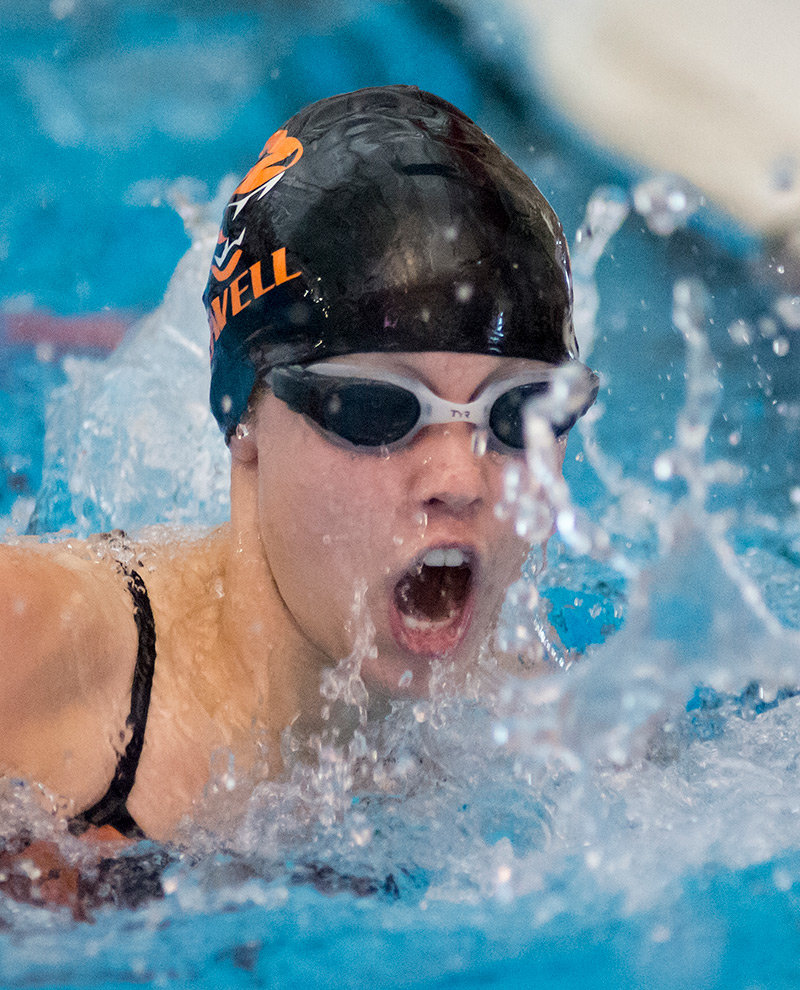 Senior Katrina Twitchell qualified in four events for the state swim meet, including the 50 free, 100 free, 100 fly and 200 free.