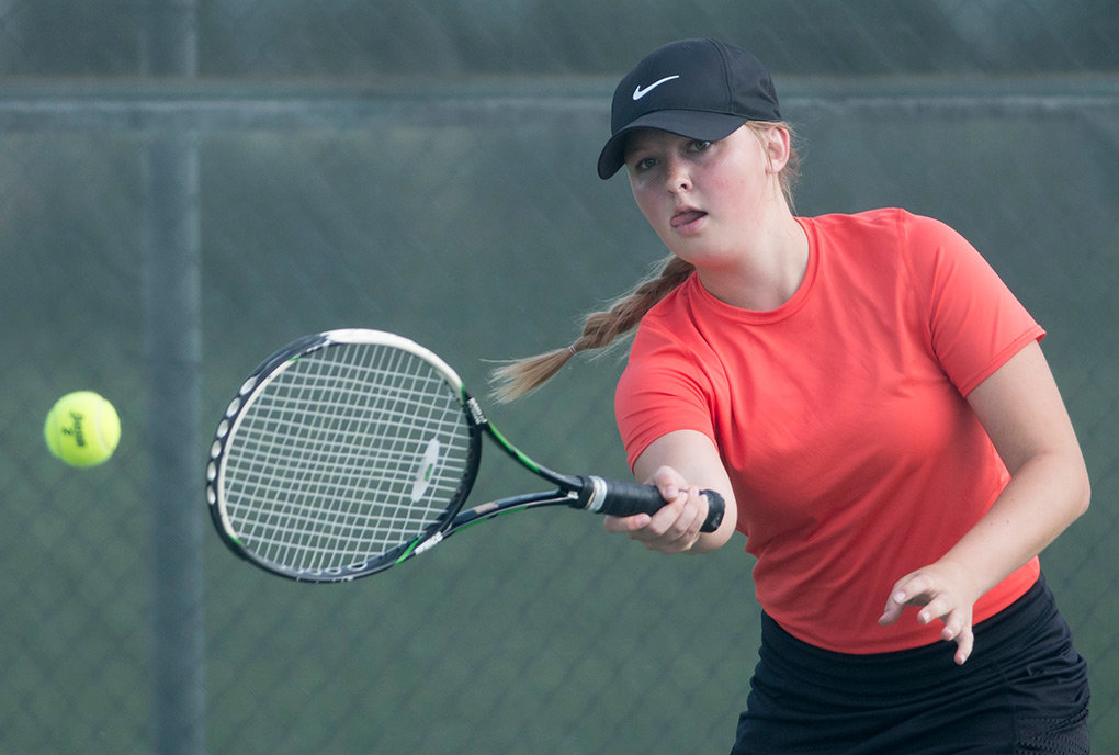Powell tennis player Sierra Sanders, who finished fourth at this year's state tournament in No. 2 doubles, was named MVP of the Lady Panthers for the 2018 season.
