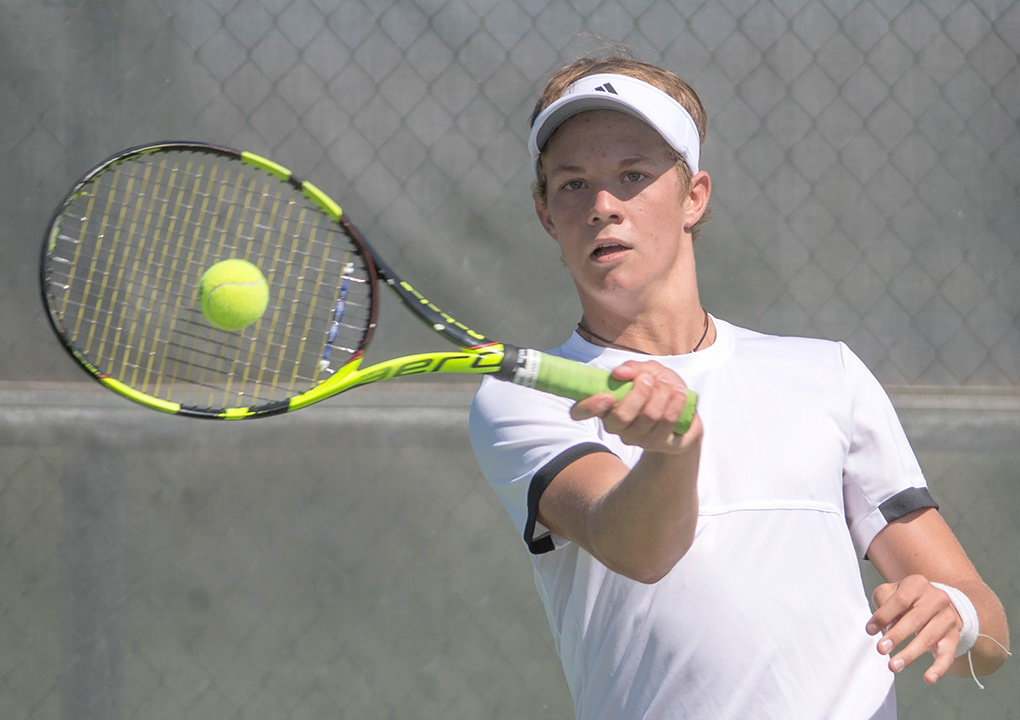 Panther tennis player Dylan Preator, this year's state champion at No. 2 singles, was named the boys' MVP for the 2018 tennis season.