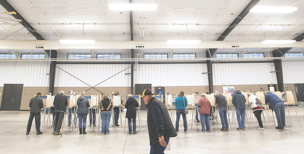 Heart Mountain Hall on the Park County Fairgrounds was bustling with voters on Tuesday morning. Across Park County, more than 11,900 voters participated in this year's general election.