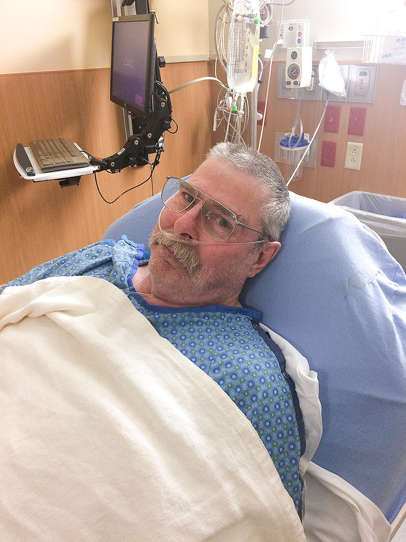 Don Hansen of Powell is recovering after surgery for a double-lung transplant last month. Hansen, who was elected in November to a second term on the Powell school board, must stay in Colorado for at least three months as he recovers.
